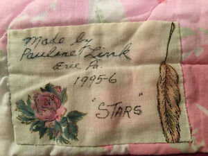 """Handmade Reversible Quilt for Full/Double Bed - """"Stars"""" Windsor Region Ontario image 3"""