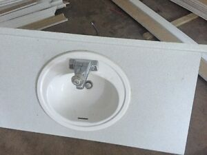 44  inch  counter  top  with moen  tap  set