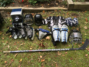 Assorted Youth's Hockey Gear