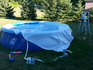 18ft round salt water pool for sale