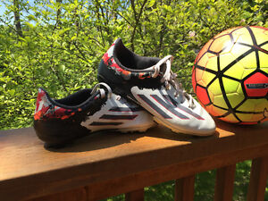 2 pair of Adidas Soccer cleats size 5.