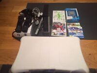 Wii Console + Wii Fit Package with games