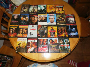 A LARGE ASSORTMENT OF DVDS FOR SALE