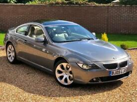 2005 05, BMW 6 SERIES 645CI Coupe Auto + PANORAMIC ROOF + LEATHER + XENONS