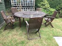 Garden table and chairs - SOLD