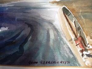"""Vintage Prairie Watercolor by John Herreilers """"Spring Rain"""" 1970 Stratford Kitchener Area image 5"""