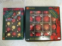 2 boxes of glass Christmas balls...only $5 for both