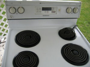 maytag electric stove white