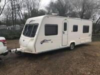 2009 Bailey Pageant Burgundy 4 Berth caravan FIXED BED, MOTOR MOVER Awning !