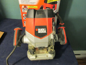 black and decker varible speed router