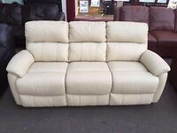***NEW DFS EX DISPLAY 3 seater 100% leather sofa for SALE***