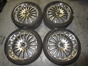 265/30/19 235/35/19 TIRES CARLSSON STAGGERED MAGS 5X114.3 OFF 40