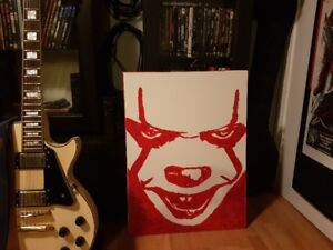 Pennywise the Clown Form IT Stephen King Original Art 18 x 24
