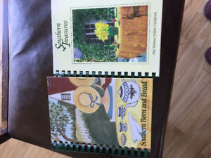 Two hard covered ringed cook books
