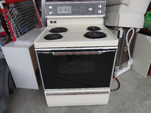 "GE electrical stove. 30"" wide. Good working condition."