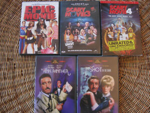Lot DVD HUMOUR HUMOR: Epic, SCARY movies VF Claques Pink P 5/10$