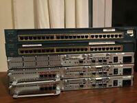 Cisco CCNA Lab (2 x 2651XM + 2 x WIC-1T, 1 x 2621XM, 2 x C2950-24)
