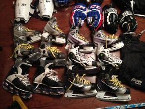 SHOES KIDS HOCKEY SKATE YOUTH CHILDS BOYS 11, 12 3 , 1.5 Bauer o