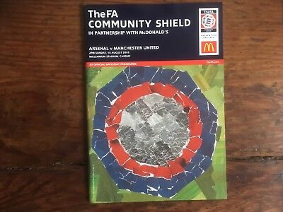 Charity Shield Aug 2003 Arsenal v Manchester Utd in Cardiff Mint
