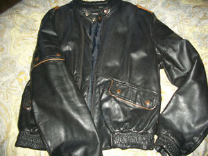 Motorcycle Leather Clothing and Helmet