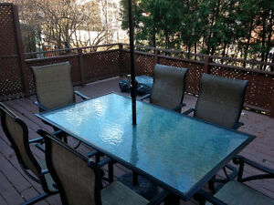 Outdoor Lawn/ Deck Furniture set w/ New Umbrella