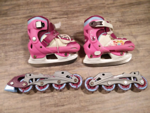 Disney ice skates and roller blades