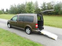 2015 15 Volkswagen Caddy Maxi Life 1.6 Tdi ONLY 7K Wheelchair Accessible Vehicle