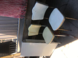 Antique Formica table and chairs