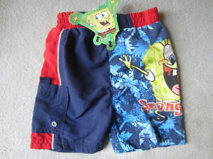 BRAND NEW - SPONGEBOB SWIM TRUNKS -SIZE 2