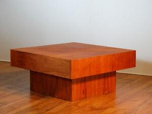 Table de salon en teck restaurée (Midcentury.Vintage) ... REMEUB
