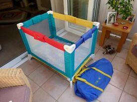 Bebe tours travel cot + mattress ++