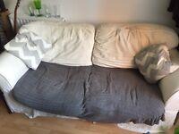 Big cream squishy sofa