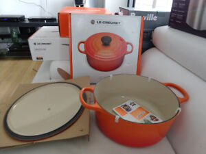 LE CREUSET  5.3 litre  and 3.1 liter and a  4.3 liter Saute Pan