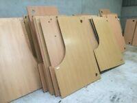 Massive quantity of flat pack corner desks