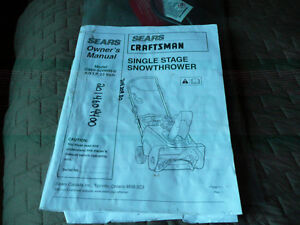"Sears Craftsman Single Stage SnowThrower 22"" Gatineau Ottawa / Gatineau Area image 3"