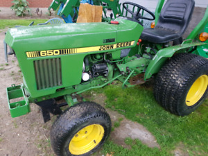John Deere 650 compact tractor