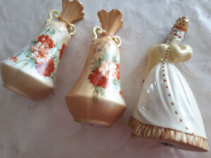 Antique China Vases and Lady