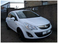 12 12 REG VAUXHALL CORSA 1.2 ACTIVE EDITION 3DR WHITE LEATHER BLUETOOTH ALLOYS