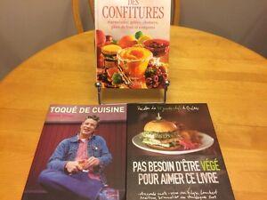 RECIPE BOOKS – bundle – (french) 3 books for 20$ Gatineau Ottawa / Gatineau Area image 1