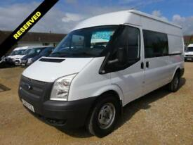2012 62 FORD TRANSIT 350 2.2 TDCI LWB CREW VAN MEDIUM ROOF 45208 MILES ONLY AIR