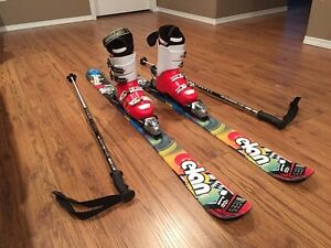 Elan skis (145cm) with boots, bindings and poles