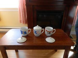 12 Collector Mugs, dehydrator, cutery