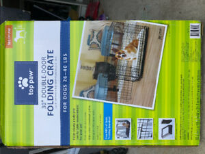 Dog Crate-Top Paw in the box