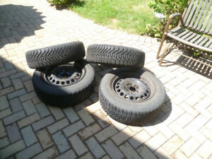 Winter Tires On Rims: 195R60/15 Bolt Pattern: 4x4.50 or 4x114.3