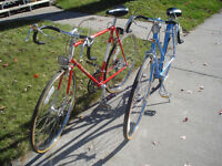 His And Hers Vintage Schwinn Traveler 10-Speed Road Bikes