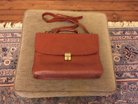 Brown Leather Sage Brown Briefcase