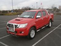 2014 14 TOYOTA HI-LUX 3.0 D-4D AUTO INVINCIBLE 4x4 DOUBLE CAB PICK UP TRUCK RED
