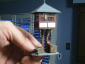 HO scale yard tower for electric model trains