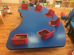 Daycare 6 seat infant/toddler table