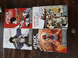 Attack on titan No regrets (1-2), Before the fall (1), JH (1)